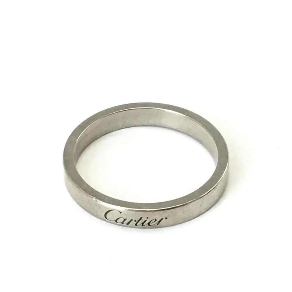 【中古】【メンズ】【レディース】Cartier カルティエ Pt950 プラチナ エンブレーブ リング 指輪 YA133309 14385595 カラー:シルバー サイズ:#56(約16号)