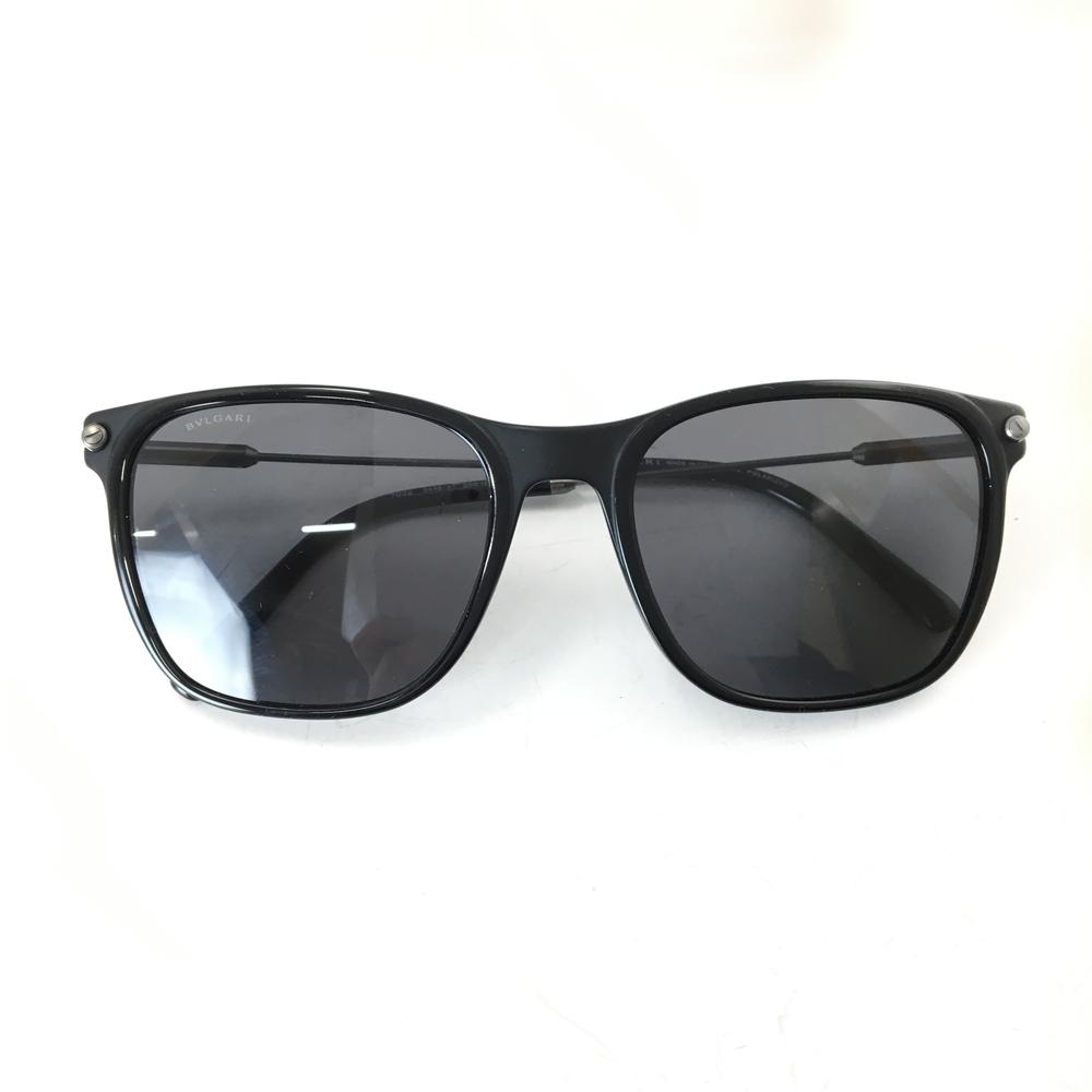 【送料無料】【ケース・メガネ拭き付き】【中古】【メンズ】【レディース】BVLGARI ブルガリ 偏光サングラス 7032 カラー:BLACK ブラック 黒 グレー