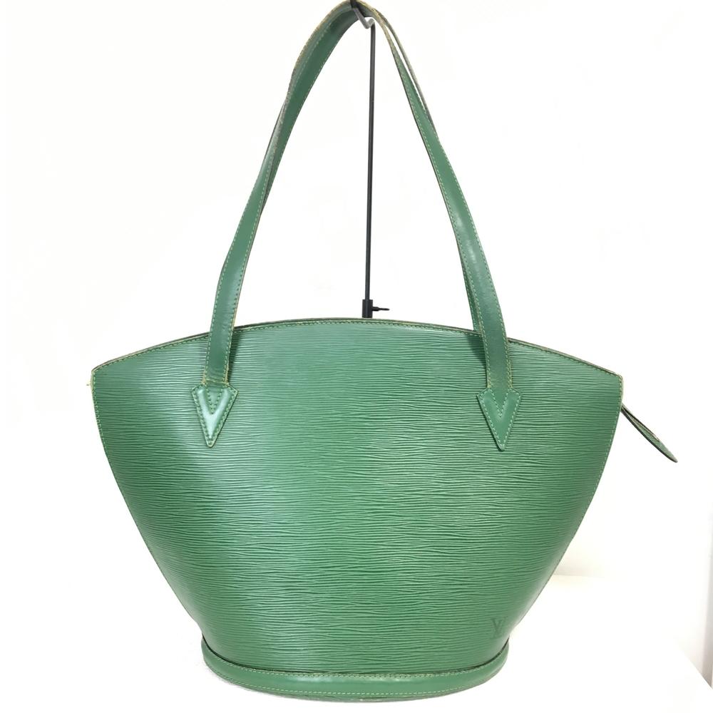【中古】【レディース】LOUISVUITTON ルイ・ヴィトン エピ サンジャック PM M52264 AS0995 大容量 トートバッグ BAG かばん 鞄 カラー:グリーン 緑