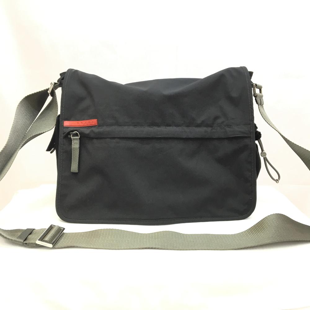 【送料無料】【中古】【メンズ】【レディース】PRADA プラダスポーツ ナイロン メッセンジャーバッグ BAG かばん 鞄 4VS109 カラー:BLACK ブラック 黒