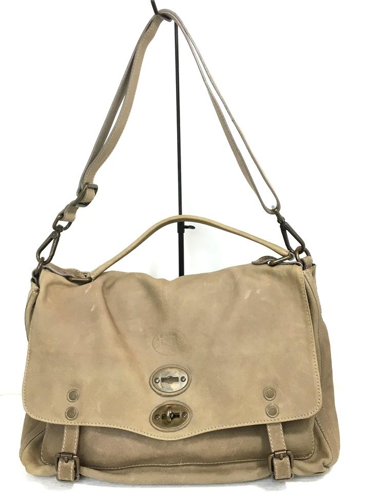 【中古】【メンズ】【レディース】ZANE LLATO ザラネート 2way レザーバック BAG 鞄 カバン カラー:ライトブラウン ベージュ