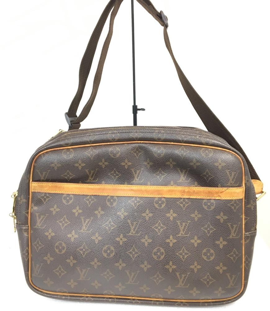 【送料無料】【中古】【メンズ】【レディース】LOUIS VUITTON モノグラム リポーターGM M45252 SP0041 ショルダーバッグ BAG かばん 鞄 カラー:ブラウン 茶