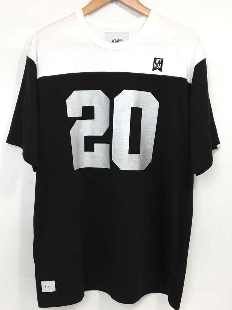 【送料無料】【中古】【メンズ】WTAPS ダブルタップス 19SS SNAP.DESIGN SS 02 TEE RACO スナップデザインTシャツラコ グラフィックデザインTシャツ 半袖 品番:191ATDT-CSM10 サイズ:3(L) カラー:ブラック ホワイト