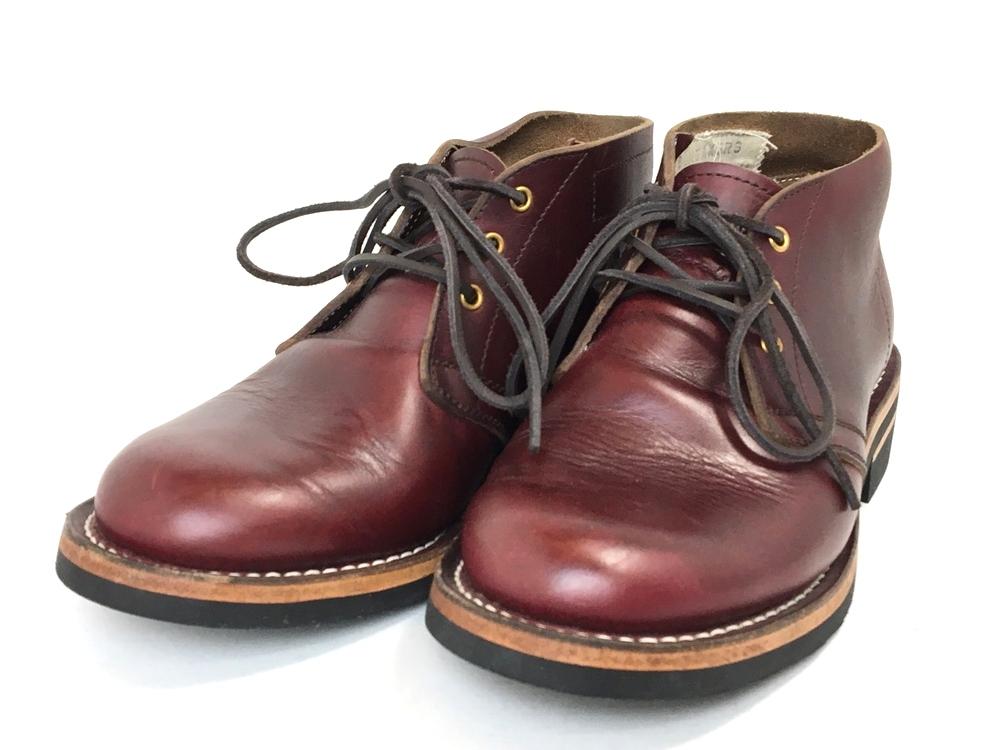 【中古】【メンズ】ZERROW'S ゼローズ BONEAKERS LINE CHUKKA ブニーカーライン チャッカ 靴 ブーツ サイズ:26.0cm カラー:バーガンディ ダークウラウン 万代Net店