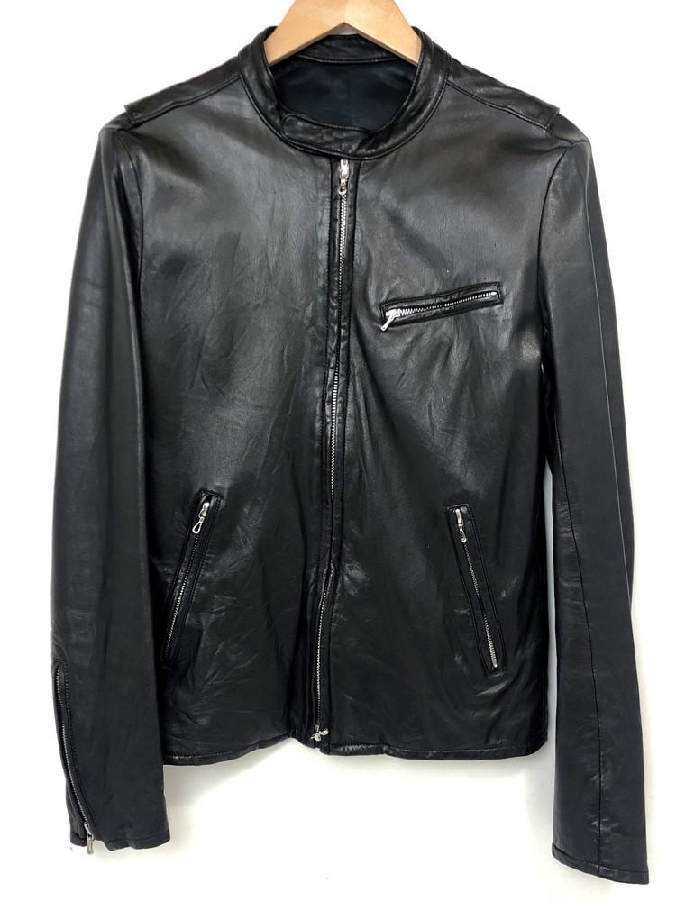 【中古】【メンズ】LITHIUM HOMME リチウムオム シングルライダース レザージャケット 品番:LH22-0103 サイズ:2 カラー:ブラック 万代Net店