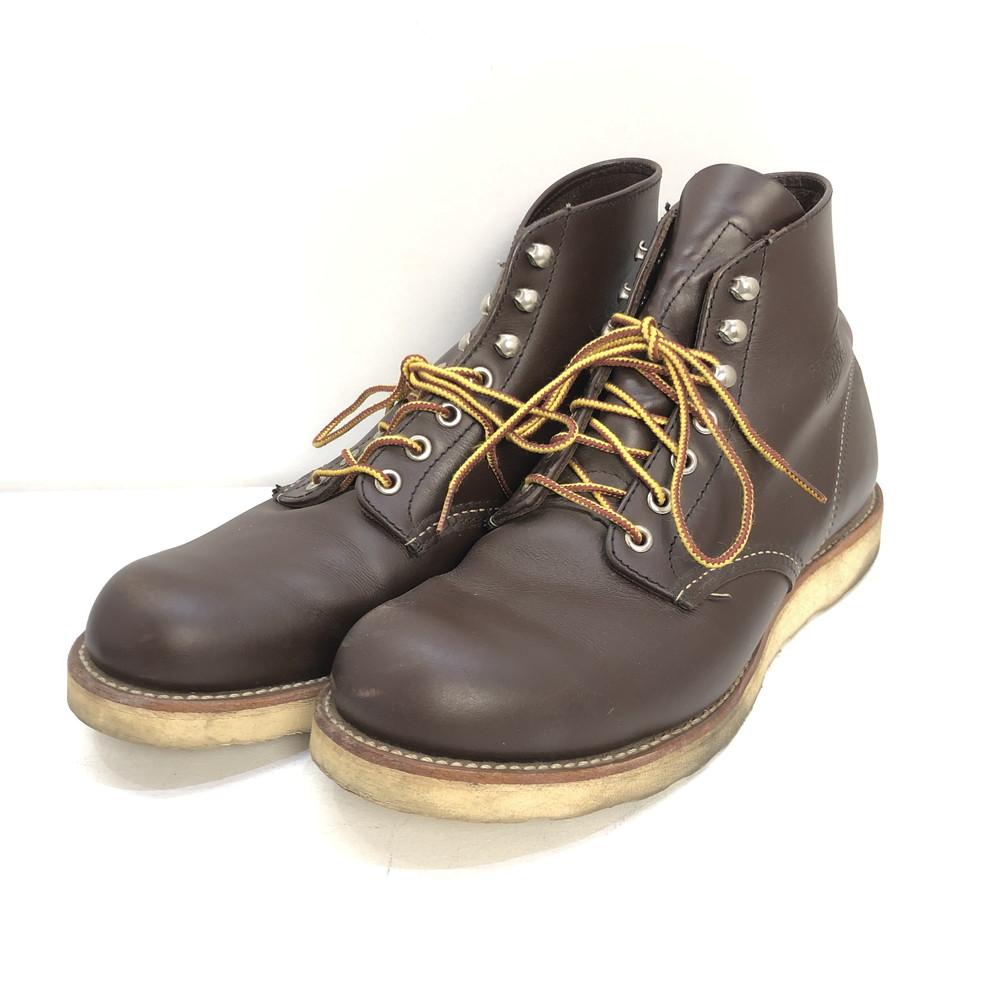 【中古】【メンズ】RED WING レッドウィング Classic Work 6inch Round Toe クラシックワーク 6インチ ラウンドトゥ サイズ:27.0cm(9D) 靴 ブーツ カラー:チョコレートクローム 茶 ブラウン 万代Net店