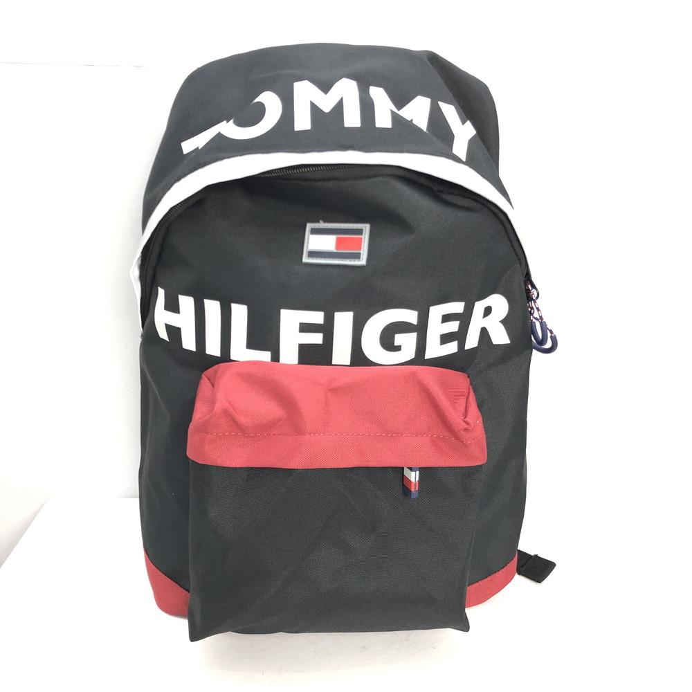 【中古】【メンズ】【レディース】TOMMY HILFIGER トミーヒルフィガー TC980H09 BACKPACK バックパック リュック 鞄 カバン カラー:黒 ブラック Black レッド 赤 万代Net店