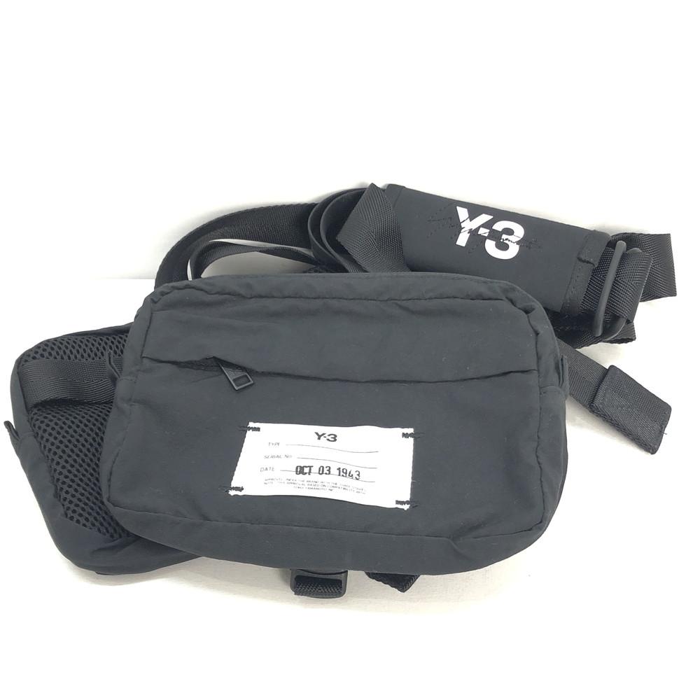 【中古】【メンズ】【レディース】Y-3 ワイスリー MULTI POCKET BAG マルチポケットバック ポーチバック ナイロン 鞄 カバン カラー:ブラック 黒 Black 万代Net店
