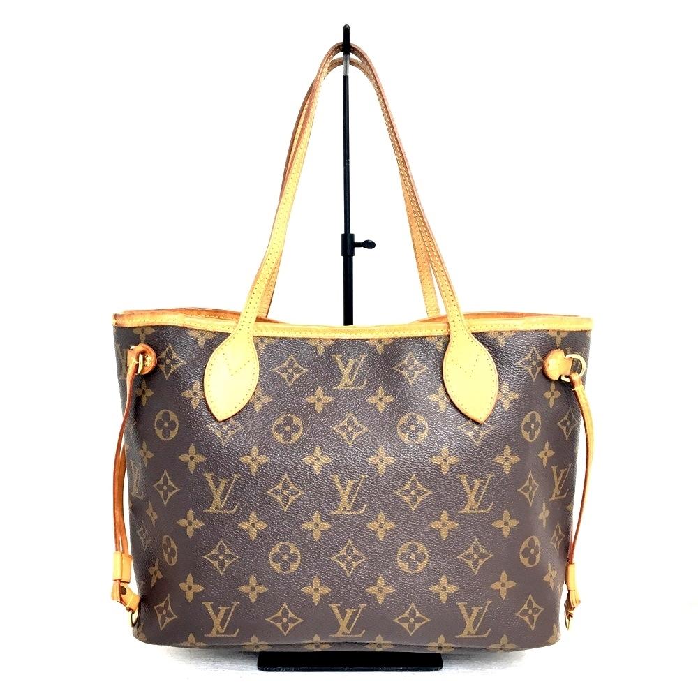 【中古】【レディース】LOUIS VUITTON ルイヴィトン モノグラム ネヴァーフルPM M40155 TH0088 トートバッグ セミショルダー BAG バッグ カバン 鞄 カラー:ブラウン 茶 万代Net店