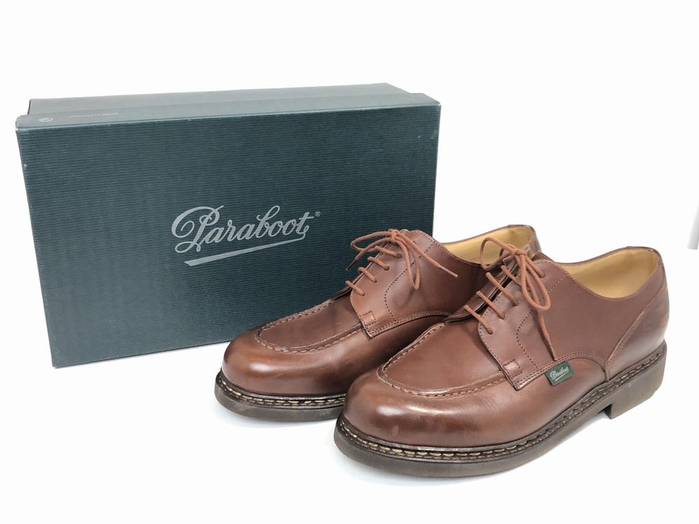 【中古】【メンズ】【箱付き】Paraboot パラブーツ CHAMBORD シャンボード 靴 ブーツ サイズ:26.0cm程度 カラー:マロン ブラウン 万代Net店