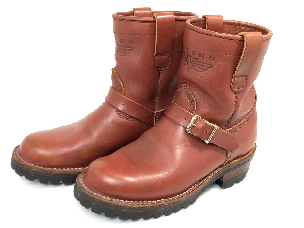 【スーパーセール限定!20%OFF~】【中古】【メンズ】VIBERG ヴァイバーグ SHORT SHIFT 8 ショートエンジニアブーツ 靴 ブーツ サイズ:25.5cm カラー:レッドブラウン 万代Net店