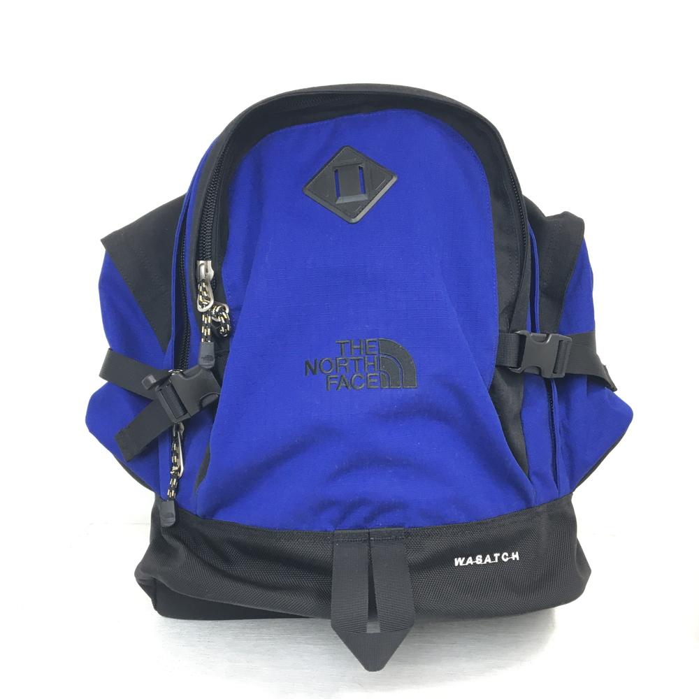【中古】【メンズ】【レディース】THE NORTH FACE Wasatch Reissue BackPack ザ・ノースフェイス ワサッチ バックパック リュック かばん 鞄 カラー:BLUE ブルー 青 万代Net店