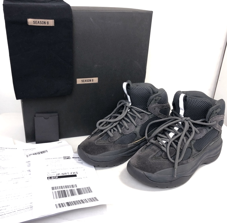 【スーパーセール限定!10%OFF~】【中古】【メンズ】【箱・付属品付き】YEEZY SEASON6 イージー シーズンシックス デザードブーツ スウェード 品番・型番:YZ6MF6003-213 靴 スニーカー サイズ:43(28.0~28.5cm) カラー:ダークグレー 万代Net店
