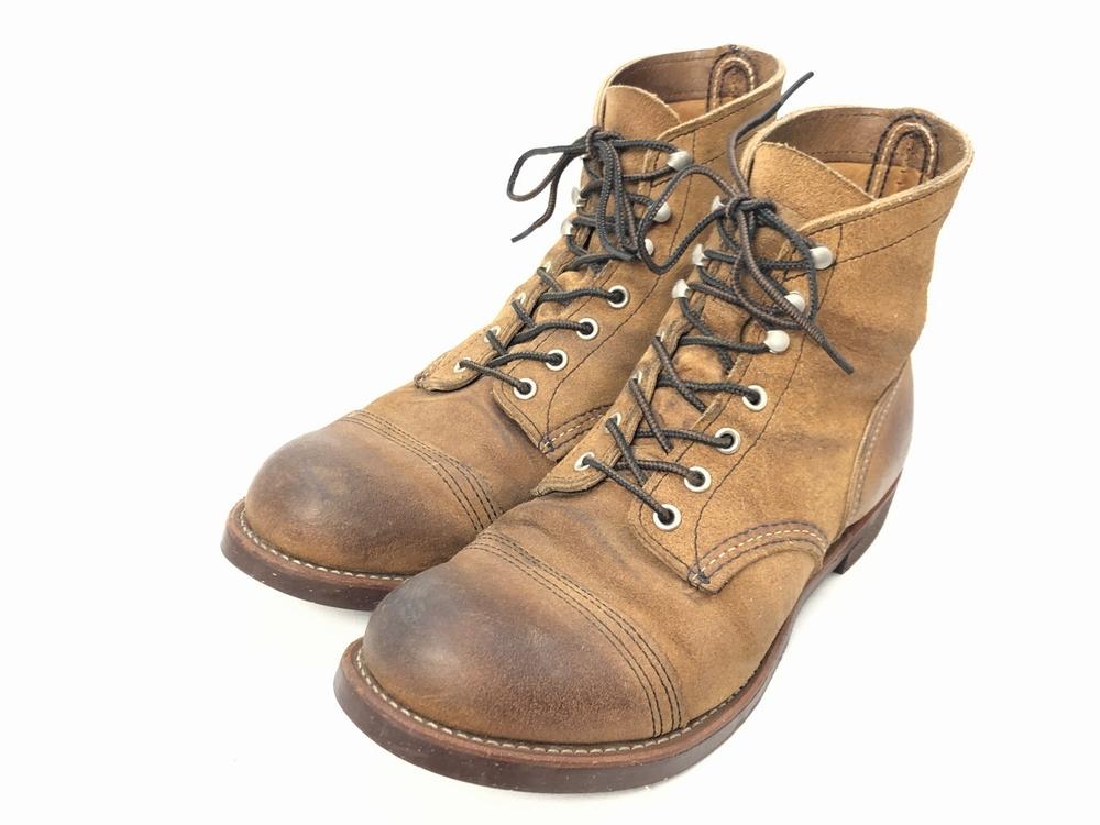 【中古】【メンズ】RED WING レッドウィング 8113 IRON RANGE アイアンレンジ 靴 ブーツ サイズ:27.0cm カラー:ミュールスキナー 万代Net店