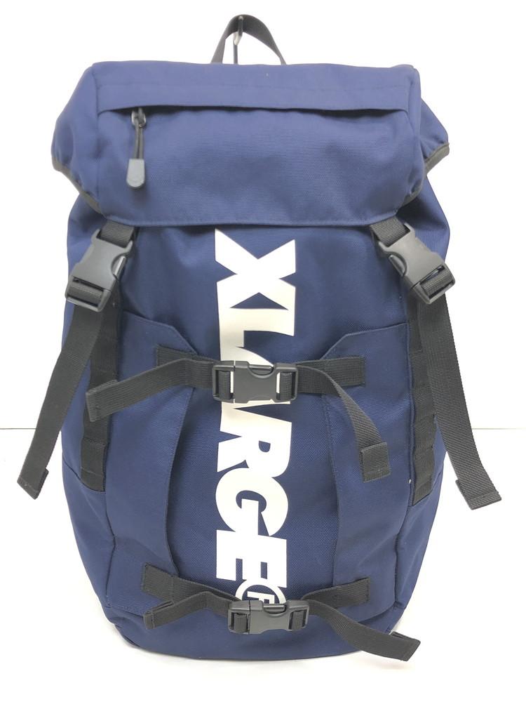 【中古】【メンズ・レディース】X-LARGE エクストララージ BIG STANDARD LOGO CORDURA Back Pack ビッグスタンダードロゴコーデュラバックパック リュック 品番・型番:01163022 鞄 リュック カラー:ネイビー 万代Net店