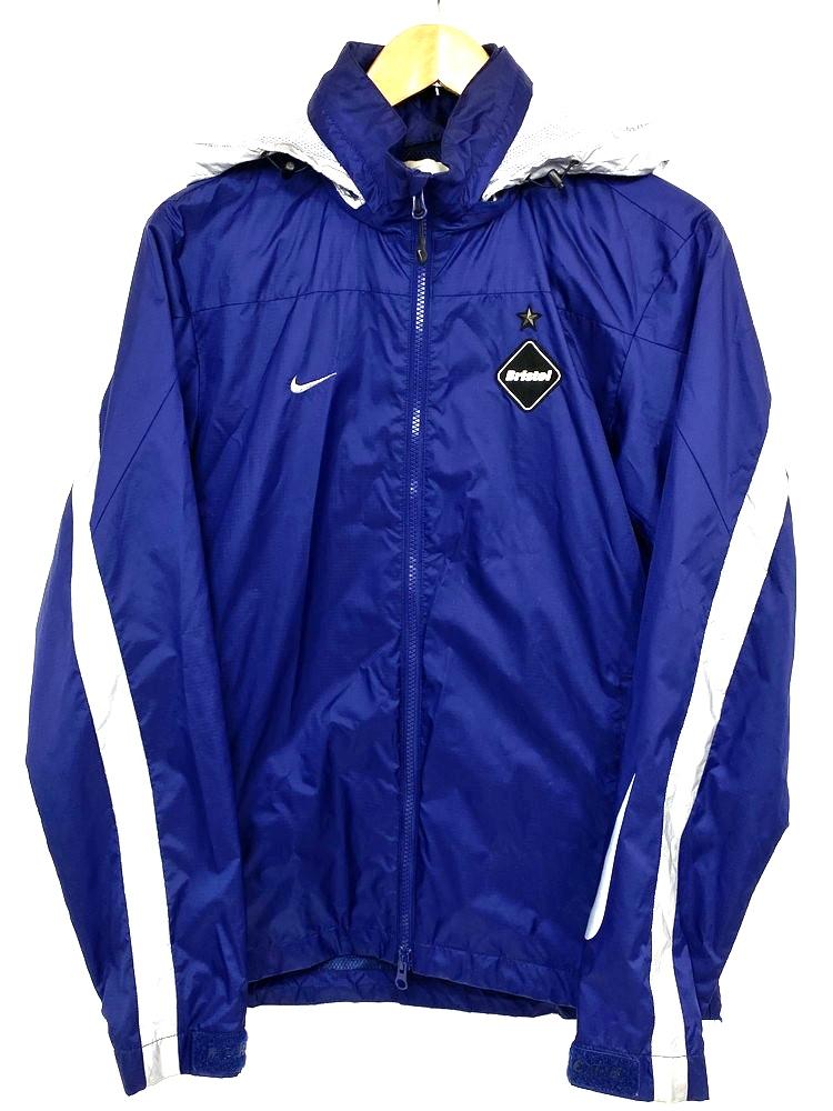 【中古】【メンズ】NIKE × F.C.Real.Bristol ナイキ×エフシレアルブリストル WARM UP JACKET ウォームアップジャケット ナイロンジャケット サイズ:S カラー:ブルー系 万代Net店