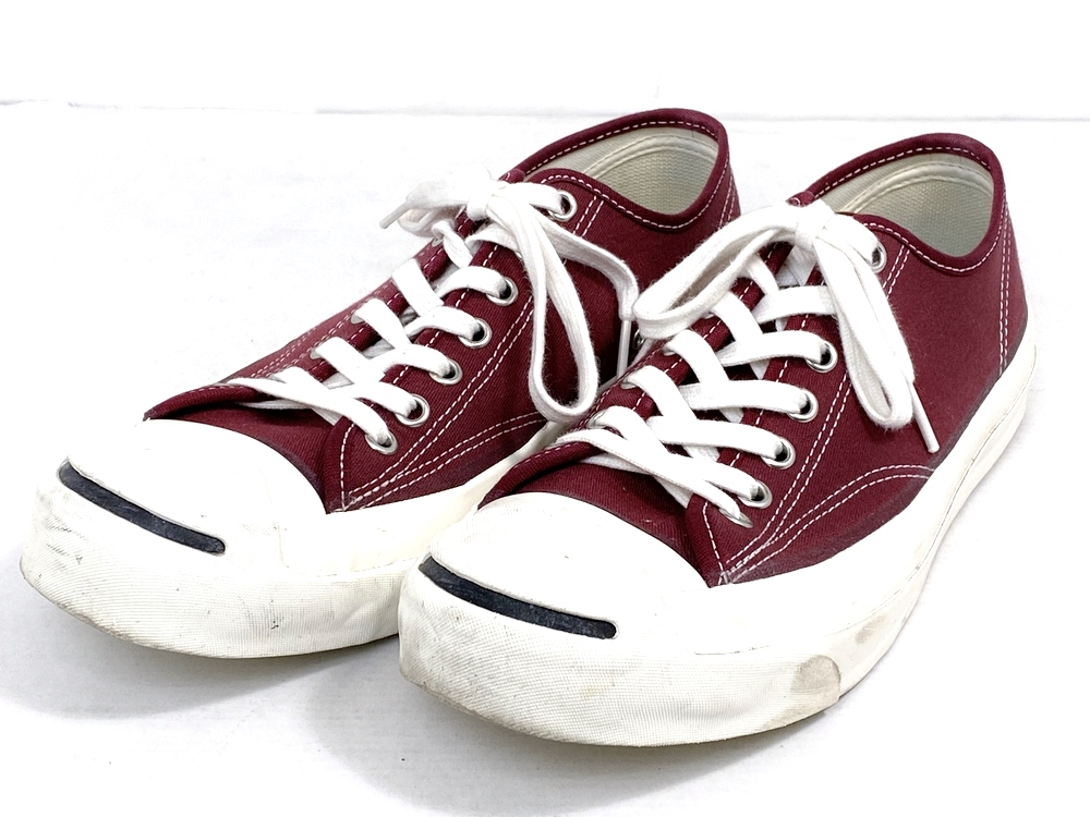 【スーパーセール限定!10%OFF~】【中古】【メンズ】CONVERSE Addict コンバースアディクト 19SS Jack Purceell ジャックパーセル 品番・型番:1CL445 靴 スニーカー サイズ:26.5cm カラー:ボルド ホワイト 万代Net店