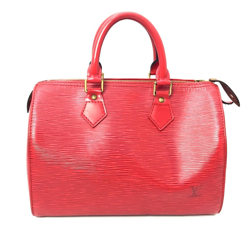 【中古】【レディース】LOUIS VUITTON ルイ・ヴィトン エピ スピーディ25エピ ハンドバッグ ミニボストンBAG かばん 鞄 カラー:RED レッド 赤 万代Net店
