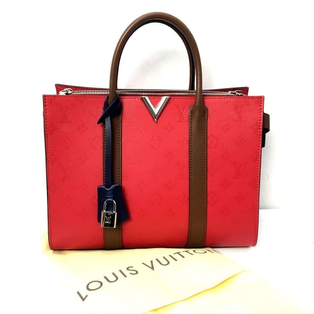 【中古】【保存袋あり】【レディース】LOUIS VUITTON ルイ・ヴィトン ヴェリートートMM M42889 トートバッグ ハンドBAG かばん 鞄 カラー:RED レッド 赤 万代Net店