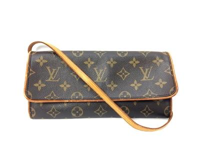 【中古】【レディース】LOUIS VUITTON ルイ・ヴィトン モノグラム ポシェット・ツインGM M51852 ショルダー BAG バッグ 鞄 かばん カラー:ブラウン 茶 万代Net店