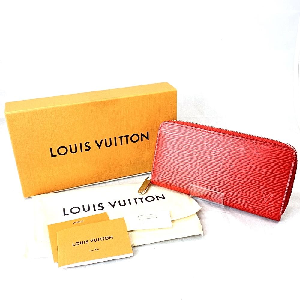 【中古】【メンズ・レディース】【箱・付属品付き】LOUIS VUITTON ルイヴィトン エピジッピーウォレット ラウンドファスナー 長財布 型番:M61859 カラー:コクリコ 万代Net店