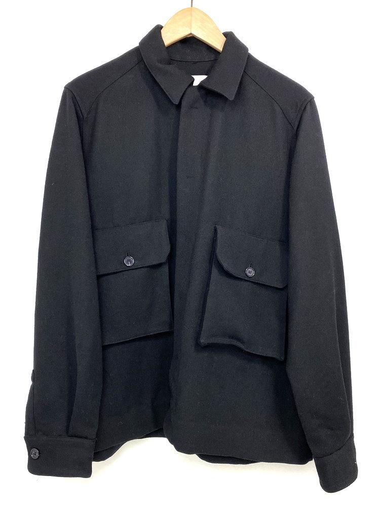 【中古】【メンズ】STUDIO NICHOLSON スタジオニコルソン 17AW CARBON OVER SHIRT カーボンオーバーシャツ 長袖シャツ 品番・型番:SN-151 サイズ:M カラー:ブラック 万代Net店