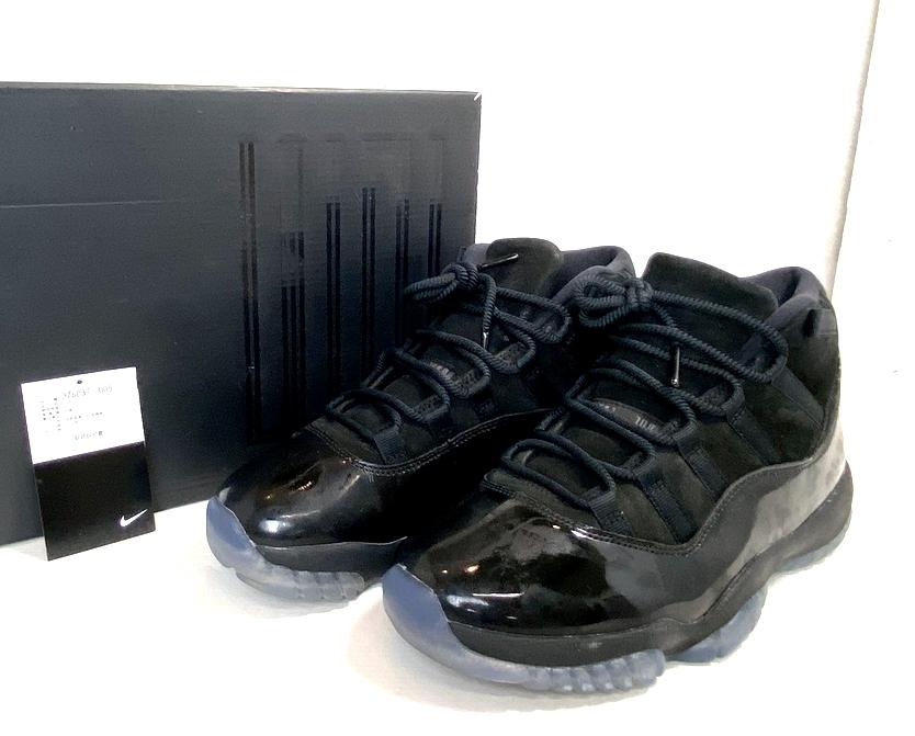 【中古】【メンズ】【箱・付属品付き】NIKE ナイキ AIR JORDAN 11 RETRO エアジョーダン11レトロ 品番・型番:378037-005 靴 スニーカー サイズ:26.0cm カラー:ブラック 万代Net店