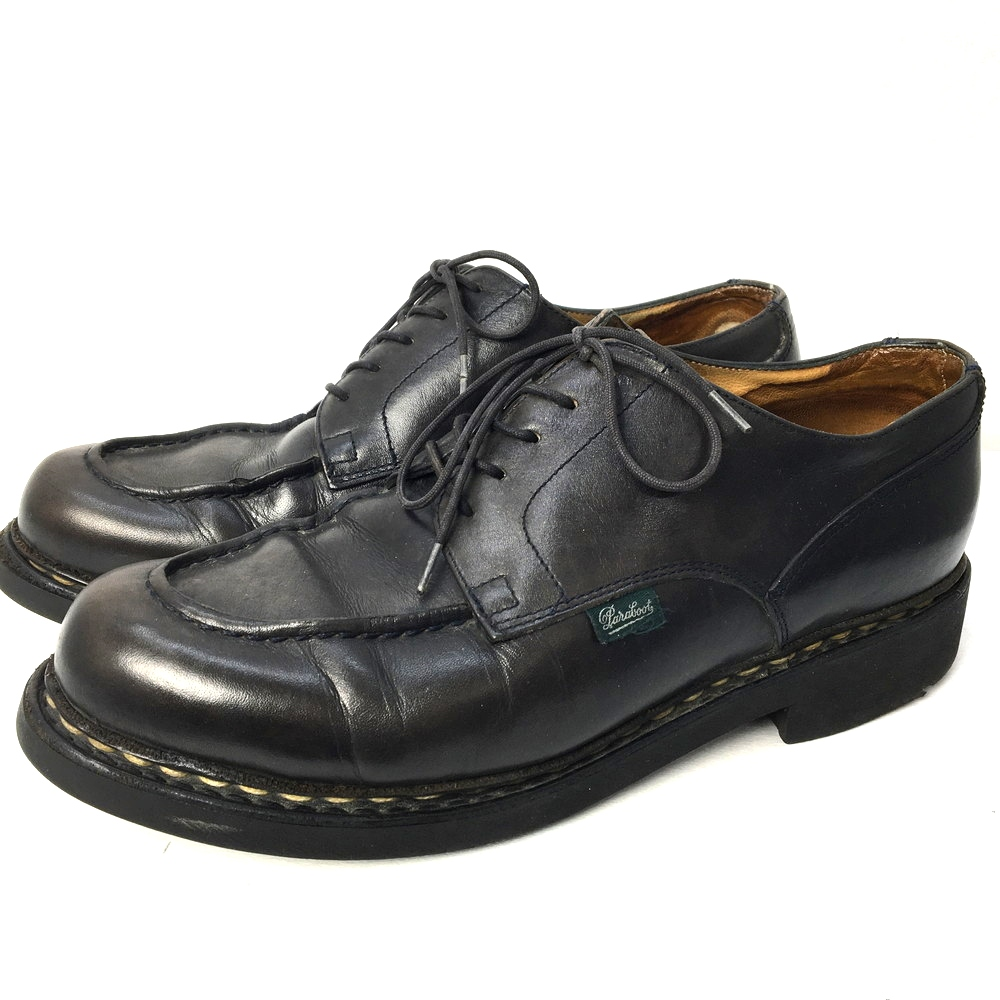【中古】【メンズ】Paraboot CHAMBORD パラブーツ シャンボード 革靴 ブラック 靴 シューズ サイズ:26cm カラー:ブラック 黒 万代Net店