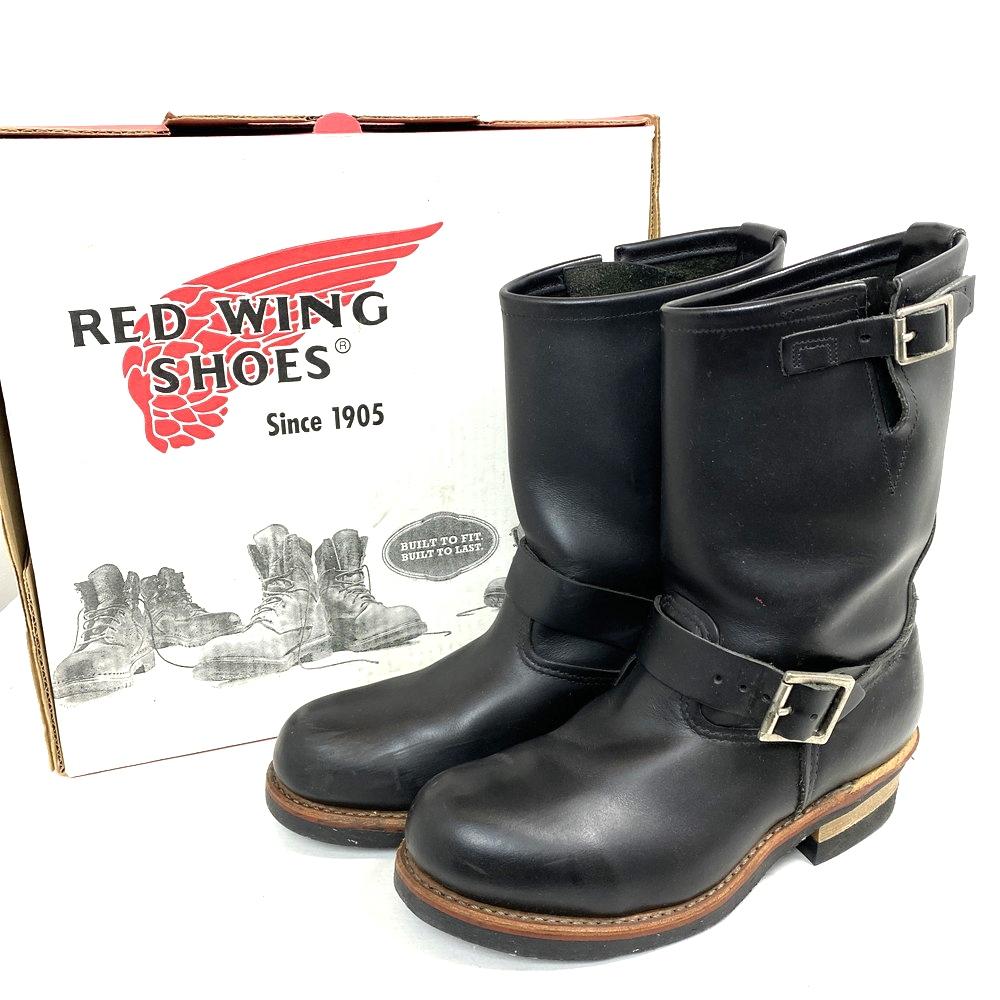 【中古】【メンズ】【箱付き】RED WING レッドウィング エンジニアブーツ 品番・型番:2268 靴 ブーツ サイズ:25.0cm カラー:ブラック 万代Net店