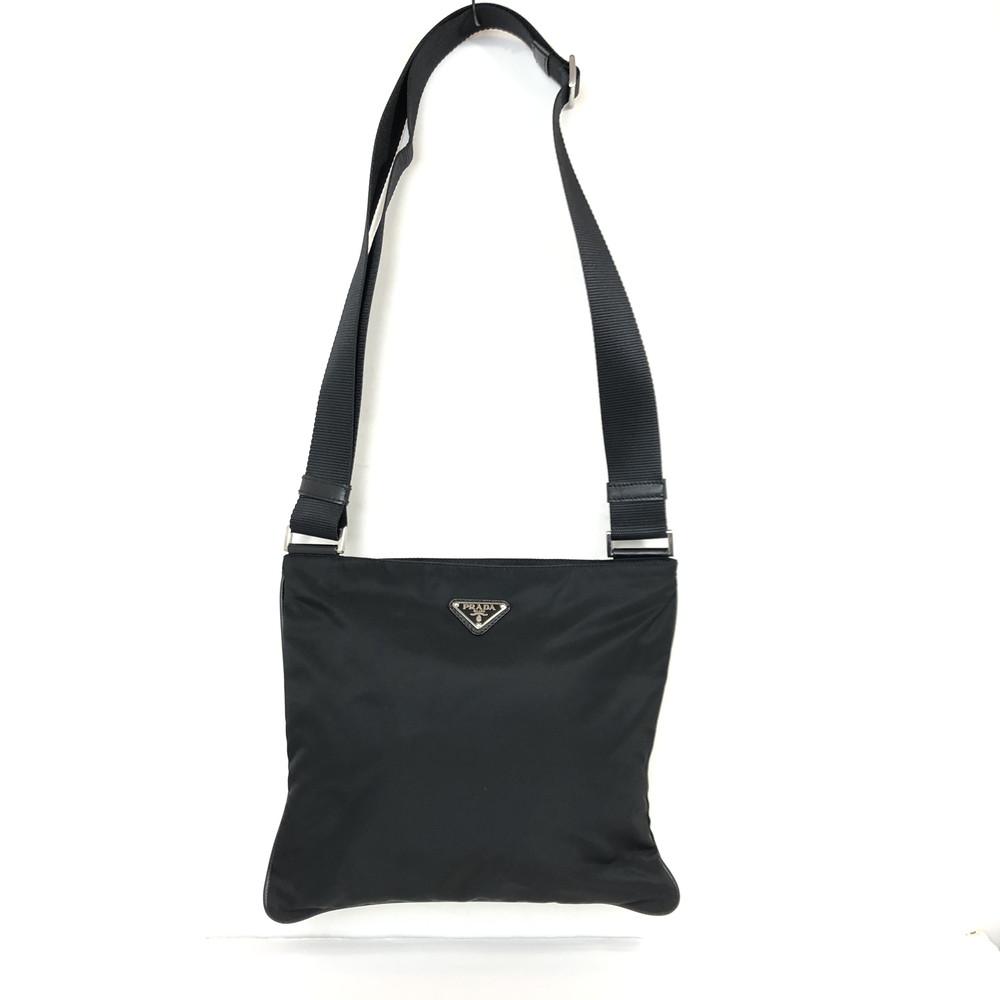 【中古】【メンズ】【レディース】PRADA プラダ ナイロンショルダーバッグ ナイロン VA0053 BAG バッグ カバン 鞄 カラー:ネロ ブラック 黒 万代Net店