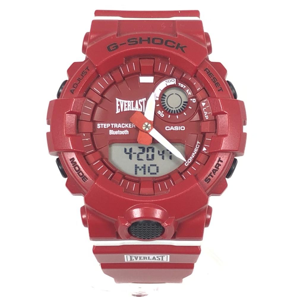 【中古】【メンズ・レディース】【付属品有り】CASIO G-SHOCK GBA-800EL カシオ ジーショック EVERLAST コラボレーションモデル 時計 デジタル メンズ 腕時計 海外モデル レッド 赤 万代Net店