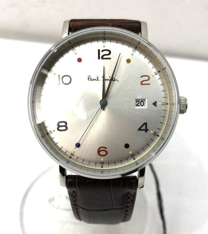 万代Net店 カラー:BROWN GAUGE 【中古】【メンズ】【付属品あり】Paul ポールスミス 型番 Smith 腕時計 ブラウン watch ビジネス COLOR PS0060002