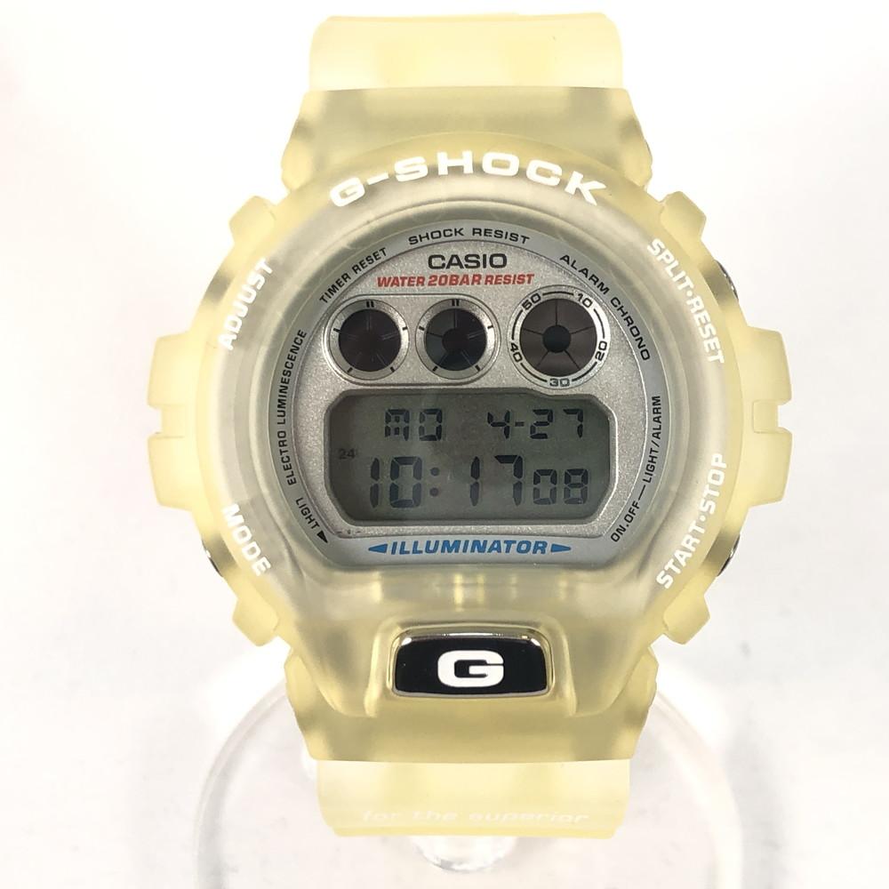 【中古】【メンズ・レディース】【付属品有り】G-SHOCK ジーショック CASIO カシオ 腕時計 GW-6900WF 98FRANCE WORLD CUP 98年フランスワールドカップ 腕時計 デジタル クリア スケルトンイエロー 万代Net店