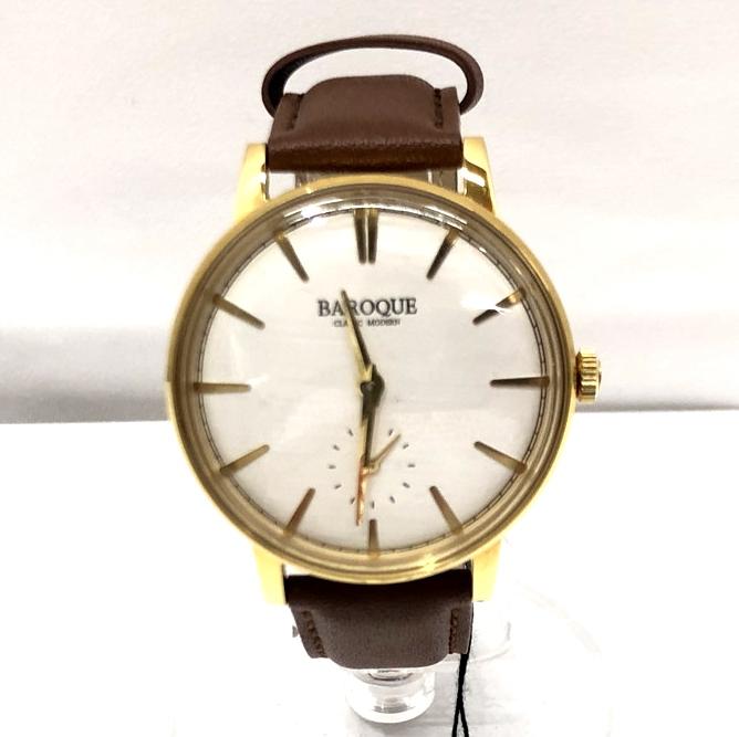 【中古】【メンズ】【付属品あり】BAROQUE バロック ウォッチ 腕時計 ブランド ウォッチ 型番:BA1008G-01BR 万代Net店