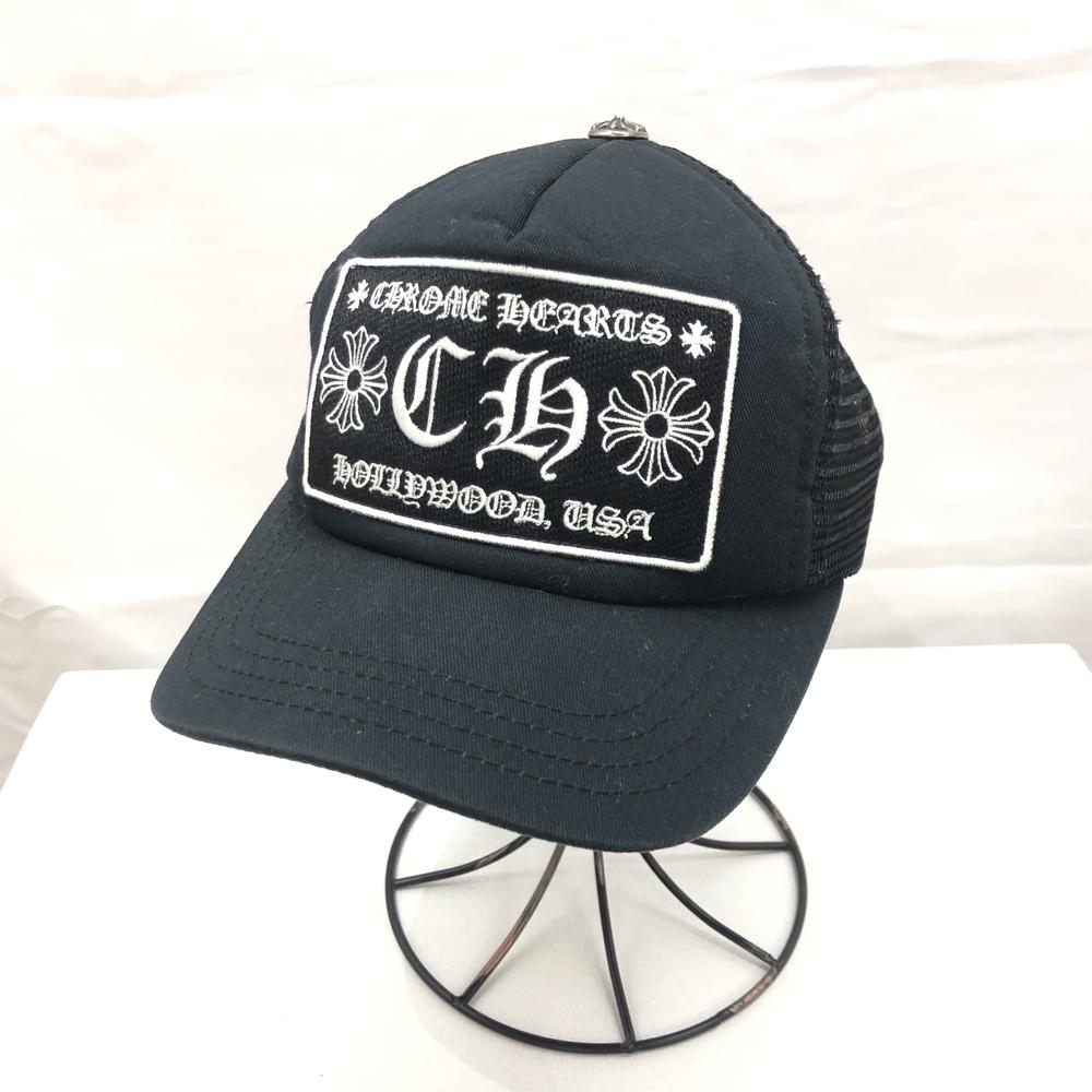 【中古】【メンズ】CHROME HEARTS クロムハーツ CH トラッカーキャップ キャップ 帽子 カラー:ブラック 黒 万代Net店