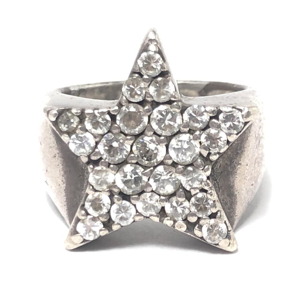 【中古】【メンズ】【付属品あり】JUSTIN DAVIS ジャスティンデイビス VIVA SUPER STAR RING ヴィバ スーパースターリング ジルコニア CUBIC ZIRCONIA リング 指輪 シルバー925 シルバーアクセサリー 16号 万代Net店