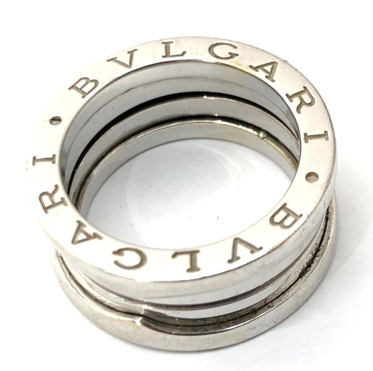 【中古】【メンズ】【付属品あり】BVLGARI ブルガリ B-Zero1 ビー・ゼロワン K18WG リング 指輪 サイズ:50 約9.5号 カラー:WHITESILVER ホワイトシルバー 万代Net店