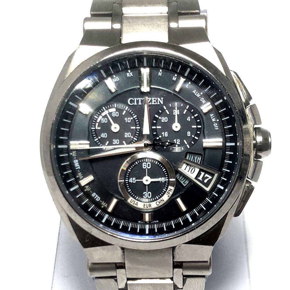 【中古】【メンズ】CITIZEN シチズン H610-T018050 アテッサ 腕時計 時計 ウォッチ カラー:シルバー 銀 ケースサイズ:H4.3cm W4.3cm D1.4cm 万代Net店