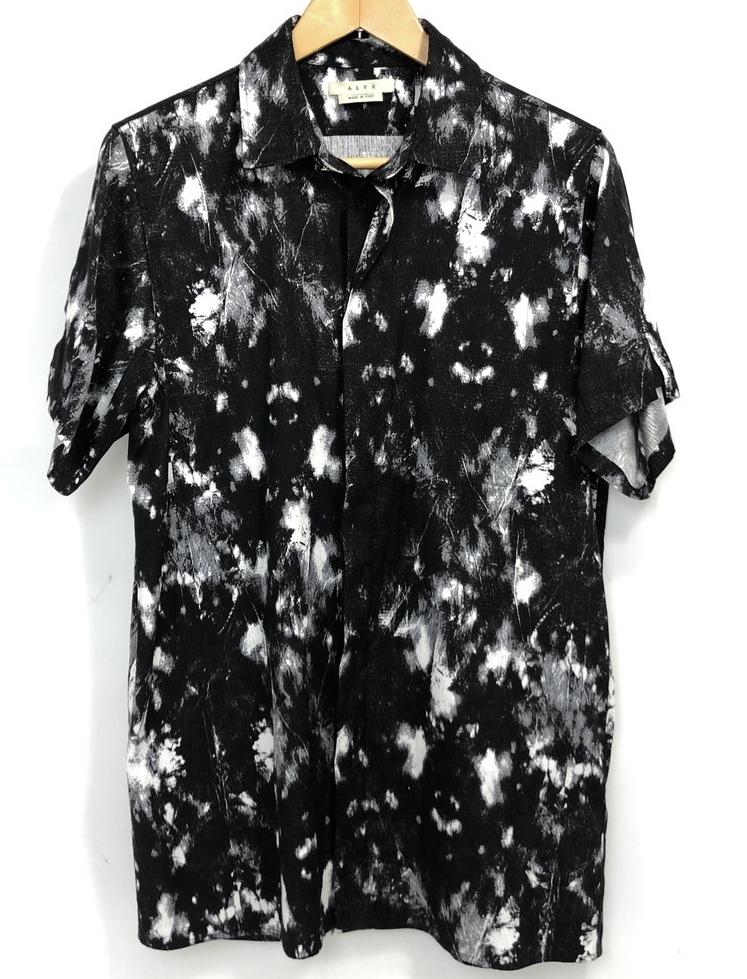 【中古】【メンズ】ALYX アリクス TATOO PRINT SHIRT タトゥープリントシャツ 半袖シャツ サイズ表記:M カラー:BLACK ブラック系 万代Net店