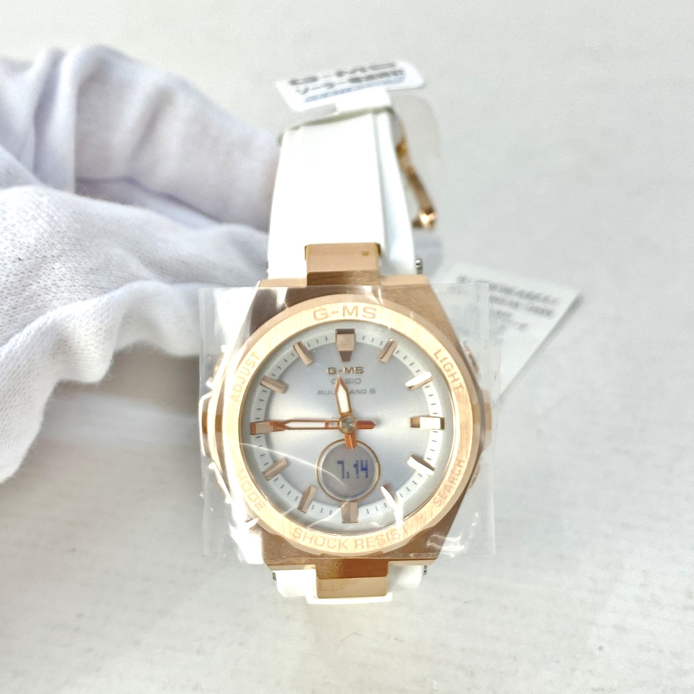 【中古】【レディース】【付属品あり】BABY-G ベビージー電波ソーラー 腕時計 品番:MSG-W200-7AJF ケースサイズ(約):47.5×38.4×12.3mm カラー:ホワイト 万代Net店