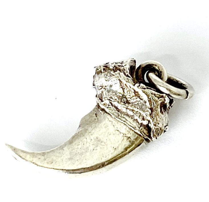"""【中古】【メンズ】【レディース】FIRST ARROWS ファーストアローズ """" SILVER 925 ベアクロー ペンダントトップ ネックレス """" Indian Jewelry インディアンジュエリー Necklace / Pendant Top Accessory アクセサリー 計測サイズ(約):H4cm/W2cm/D1cm 万代Net店"""