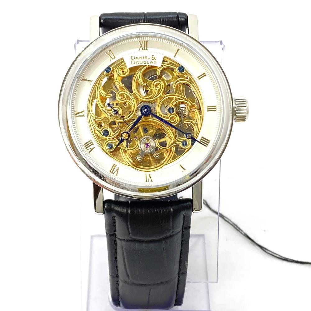 【中古】【メンズ】【付属品あり】DANIEL&DOUGLAS ダニエルアンドダグラス 自動巻 オートマチック 手巻き 型番:DD8805-SVGP 取扱説明書あり 腕時計 万代Net店
