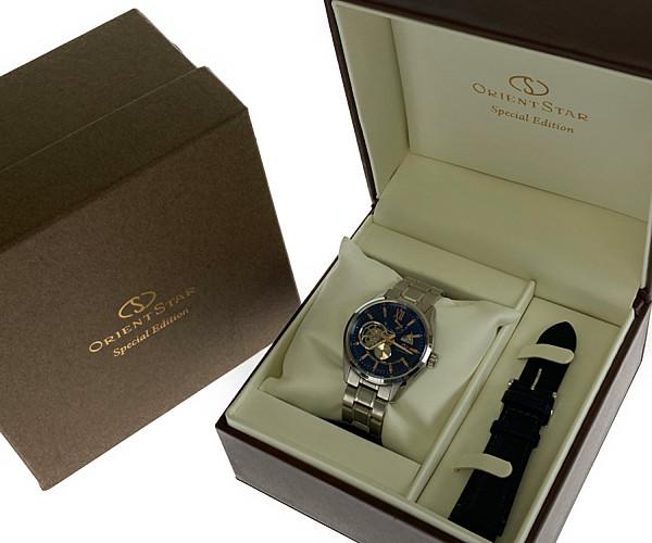 【中古】【メンズ】【付属品あり】ORIENT STAR オリエントスター スケルトンパワーリザーブ 腕時計 自動巻 型番:DK05-CO-B CA カラー:SILVER シルバー 万代Net店
