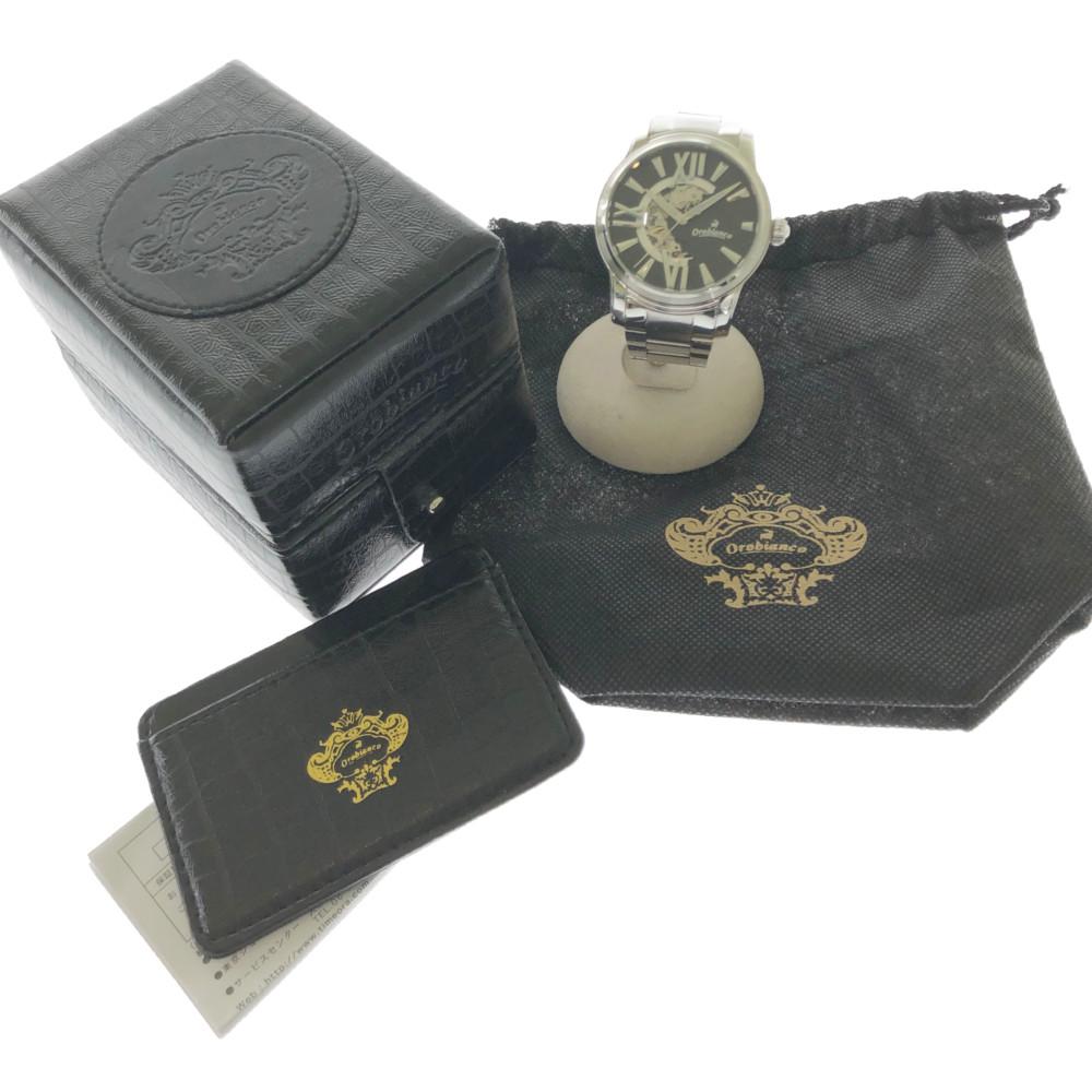 自動巻き カラー:シルバー、silver、銀 オートマ オラクラシカ 腕時計 品番:OR-0011N 【中古】【メンズ】【付属品あり】orobianco オロビアンコ 万代Net店