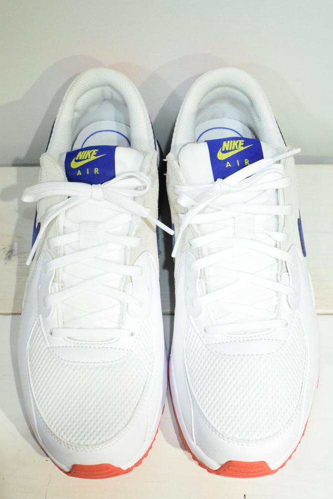 【中古】【美品】NIKE ナイキ AIR MAX EXCEE エア マックス エクシー CD4165-101 WHITE/HYPER BLUE-BRIGHT CACTUS-TRACK RED サイズ27cm メンズ スニーカー 万代Net店