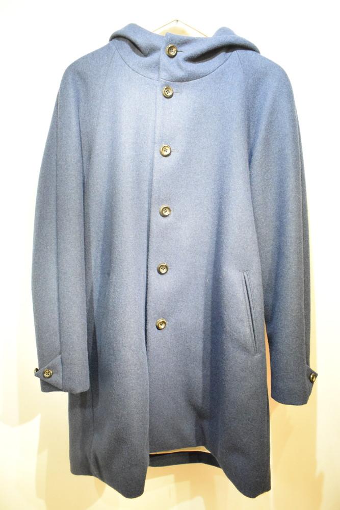 【中古】EEL イール E-14192 ORION COAT オリオンコート ウール フーデッドコート ブルー サイズM メンズ レディース ドメスティック 万代Net店
