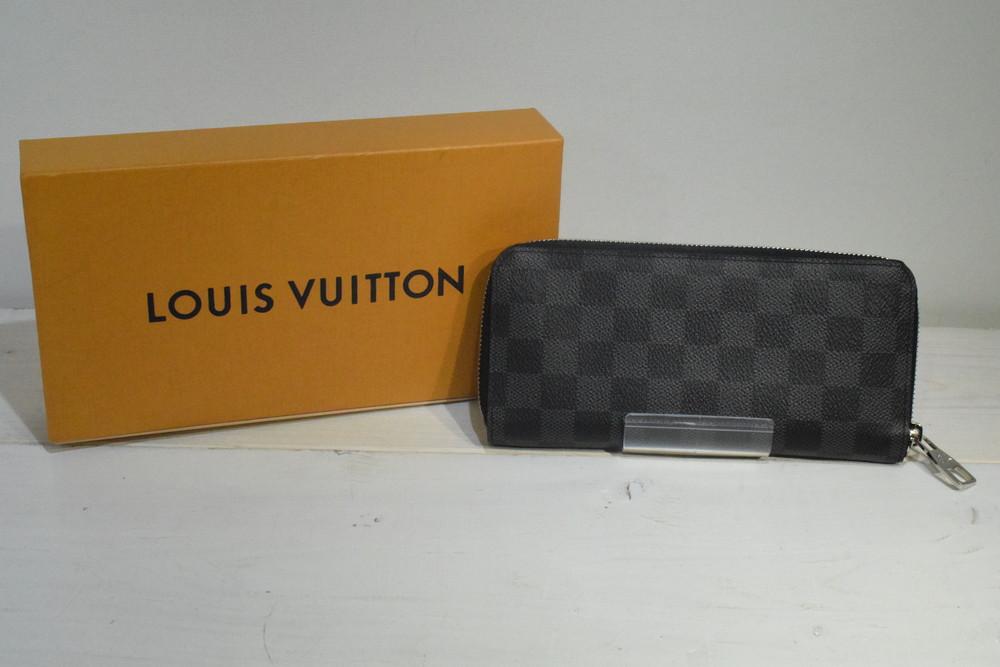 【中古】【美品】LOUIS VUITTON ルイヴィトン N63095 財布 ダミエ・グラフィット LV ラウンドファスナー 長財布 ジッピーウォレット・ヴェルティカル メンズ SB財布 万代Net店