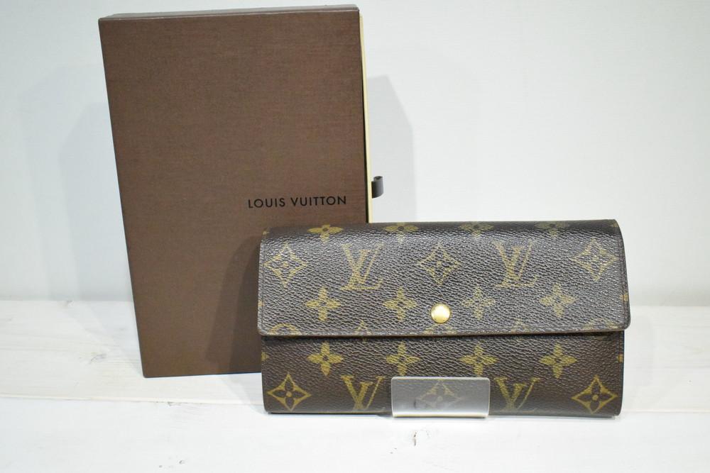 【中古】Louis Vuitton ルイ ヴィトン モノグラム ポルトフォイユサラ M61734 二つ折り長財布 メンズ レディース ハイブランド 万代Net店