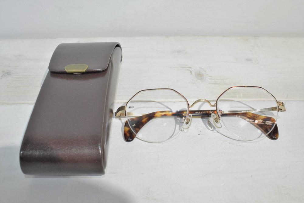 【中古】G4 OLD&NEW ジーフォーオールドアンドニュー 1662 べっ甲調 クラシカル TITAN-P DM メガネフレーム メンズ レディース 眼鏡 万代Net店