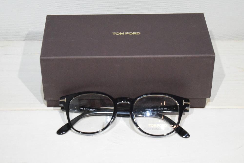 【中古】Tom Ford トムフォード TF5400F001 ブラック ボストン メガネフレーム メンズ レディース 眼鏡 万代Net店